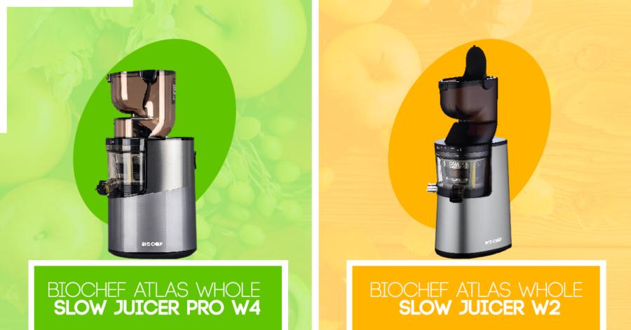 Biochef Atlas Whole Slow Juicer W2 a W4 – jaký je rozdíl?
