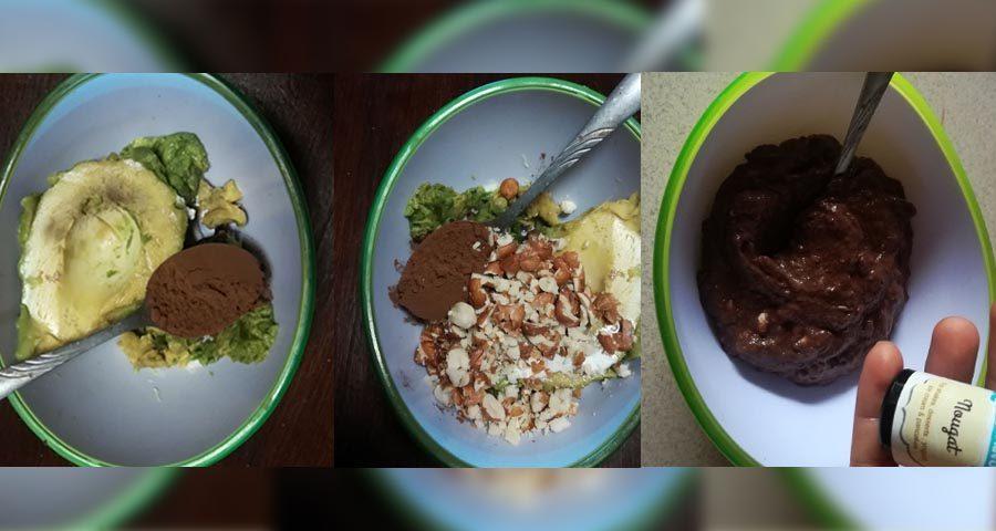 Zdravý čokoládový krém s avokádem